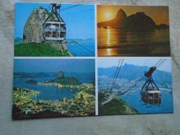 D143957 Brasil Brazil - Rio De Janeiro  Bondinho -Aerial Car -Cable Car  Teleferique - Rio De Janeiro