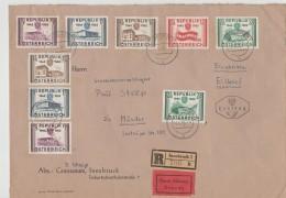 550a- ÖSTERREICH- Schöner  FDC Einschreiben Eilboten 27.4.1955 Mit Michel Nr. 1012-1016, überkomplett Und Portogerecht - 1945-60 Briefe U. Dokumente