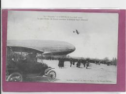 """54.- Le """" ZEPPLIN """" à LUNEVILLE (3-4 Avril 1913) Le Petit Oiseau De France Survolant Le Kolossal Aigle Allemand - Luneville"""