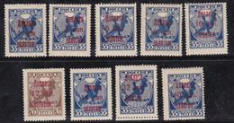 Russie 1924 N°Y.T. :  TT. 1 à 8 *