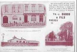 BORDEAUX DUBOS FILS 3 VUES  11 QUAI DES CHARTRONS .CUVIER A MARGAUX .CHATEAU  CANTEMERLE Retailleecote Droit Hauteur - Bordeaux