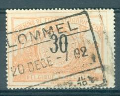 """BELGIE - OBP Nr TR 19 - Cachet  """"LOMMEL"""" - (ref. AD-8281) - Chemins De Fer"""