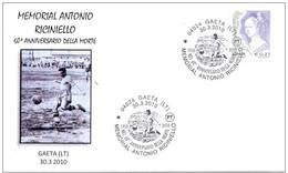 ITALIA ITALY 2010. SPECIAL POSTMARK. TRIBUTE TO ANTONIO RICINIELLO. ITALIAN SOCCER PLAYER. CALCIO. FOOTBALL. GAETA - Fussball