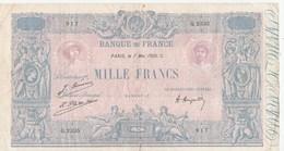BILLET 1000 FRANCS BLEU ET ROSE - 1871-1952 Gedurende De XXste In Omloop