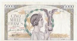 BILLET 5000 FRANCS VICTOIRE - 1871-1952 Anciens Francs Circulés Au XXème