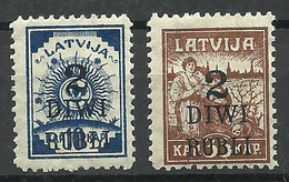 LETTLAND Latvia Lettonie 1919 Michel 58 - 59 * - Lettland