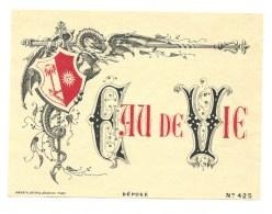 """étiquette Ancienne  Eau De Vie  """"Haberer Douin Jouneau Paris  N°425"""" Spécimen D'étiquette  Vers 1900 - Etiquettes"""