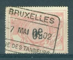 """BELGIE - OBP Nr TR 21 - Cachet  """"BRUXELLES - RUE DES TANNEURS"""" - (ref. AD-8287) - 1895-1913"""