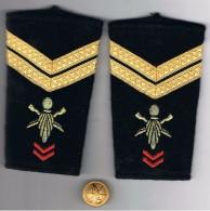 Epaulettes  Militaire   Avec Un Bouton - Equipement