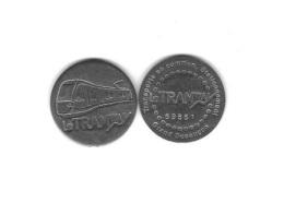 Jeton  Transports En Commun - Stationnement  Grand Besançon  ( 25 )  Le  Tramway  N°  69851  Recto  Verso - Frankrijk