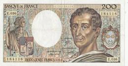BILLET 200 FRANCS MONTESQUIEU - 1962-1997 ''Francs''
