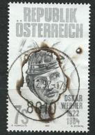 Österreich 1997 Mi 2236 75. Geburtstag Von Oskar Werner Gestempelt - 1991-00 Gebraucht