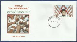 PAKISTAN 2012 MNH FDC FIRST DAY COVER WORLD THALASSEMIA DAY CHILD BABY - Pakistan