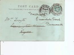 Grande-Bretagne ( CP De 1900 De Ryde (Wight) Vers Bournemouth à Voir)