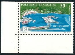 POLYNESIE 1966 - Yv. PA 20 ** SUP Cdf  Cote= 21,00 EUR - Port De Papeete ..Réf.POL23153 - Poste Aérienne