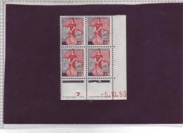 N° 1216 - 25F MARIANNE A LA NEF - F De E+F - 2° Tirage Du 30.9.59 Au 9.11.59 -5.10.1959 - - 1950-1959