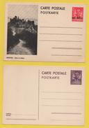 Luxemburg / Ganzsachen - 4 Verschiedene ältere Postkarten Aus Luxemburg - Postwaardestukken