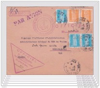 1960 Lettre Officielle Par Avion De Nouméa Vers Toulon Naval - Service à La Mer - U.M. Nouméa - Affrt 47 F - T. Service - Neukaledonien