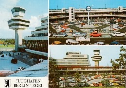 AK Flughafen Berlin Tegel - Rückseitig SonderStempel LUPOSTA 77 Berlin - Flugzeuge