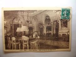 Carte Postale Nice (06 ) Casino Municipal - Salle De Baccara Du Grand Cercle  (Petit Format Oblitérée 1923 Timbre 10 C) - Altri