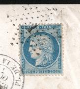 Y & T N°60, PREMIER C EN FORME DE G, CASSURE FILET GAUCHE A LA 7 PERLE NO - Marcophilie (Lettres)