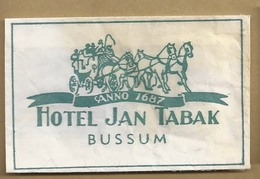 Suikerzakje.- BUSSUM. - HOTEL JAN TABAK -. Anno 1687  Sucre. Sugar. 2 Scans - Zucker