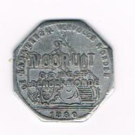 °°° BROODKAART  1  VOORUIT GEWEST  DENDERMONDE 1880 - Monetary / Of Necessity