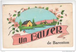 (n°690) CPA Manche 50 Un Baiser De BARENTON - Barenton