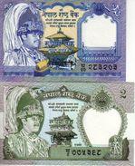 Nepal, Lote 2 Billetes (UNC) - Nepal