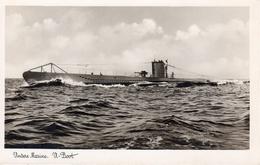 Germany 1945 WWII U Boot Submarine Mailed RPPC - War 1939-45