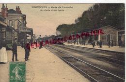 89-    MIGENNES - GARE DE LAROCHE  ARRIVEE D' UN TRAIN - Migennes