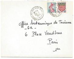 AFFRANCHISSEMENT COMPOSE SUR LETTRE DE SAINT SAVINIEN (CHARENTE MARITIME) 1963 - Marcophilie (Lettres)