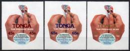 Tonga - Service Aérien - 1979 - Yvert N° 138 à 140 **  - 10° Anniversaire Des Timbres Autocollants - Tonga (1970-...)