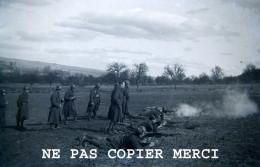 Regiment De La Meuse 155 RIF RI Forteresse SF Montmedy Militaire Manoeuvre Tir WW2 Ligne Maginot Negatif Photo Original - Guerre, Militaire