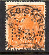 T1820 - AUSTRALIA 1/2 Penny Used WMK 7  Dent 13 1/2x12 1/2. Punctured OS NSW - 1850-1906 New South Wales