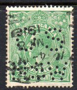 T1823 - AUSTRALIA 1/2 Penny Used WMK 6a  . Punctured OS NSW - 1850-1906 New South Wales
