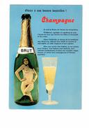 Cpm HUMOUR Femme Nue Dans Bouteille De Champagne Verre Coupe - Alcool - - Humour