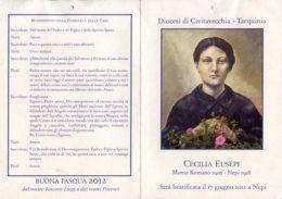 Santino Grande Depliant CECILIA EUSEPI Diocesi Di Civitavecchia-Tarquinia - OTTIMO N10 - Religione & Esoterismo