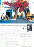 Cafe, Crete, Greece Postcard Posted 2008 Stamp - Grecia