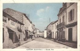 CPA Cancon Grande Rue - France