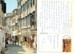 Old Town, Corfu, Greece Postcard Posted 1994 Stamp - Greece