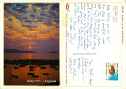 Laganas, Zakynthos, Greece Postcard Posted 1990 Stamp - Greece