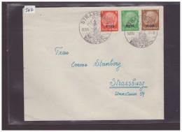 ELSASS AUF HINDENBURG - LETTRE POUR STRASSBOURG - Deutschland