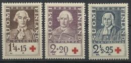FINLANDE N° 180 à 182 Neuf Sans Charnière Année 1935