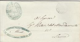 Torricella. 1868. Annullo Doppio Cerchio Su Franchigia + ANNULLI DI FRANCHIGIA + Testo - Poststempel