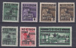 Italy Yugoslavia Occupation, Fiume 1945 Sassone#14-19 Michel#27-33 Mint Never Hinged