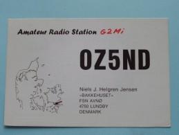 OZ5ND Niels J. Helgren Jensen Lundby DENMARK ( ) Anno 1963 ( Zie Foto Voor Details ) - Radio Amateur