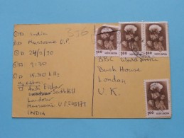 INDIA Andi ( To BBC World Service Bush House) Anno 1990 ( Zie Foto Voor Details ) - Radio Amateur