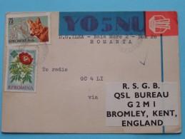 YO5NU Romania ( Bromley Kent ) Anno 1966 ( Zie Foto Voor Details ) - Radio Amateur