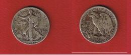 USA  --  1 /2 Dollar 1942 --  Km# 142  --  état  TB - 1916-1947: Liberty Walking